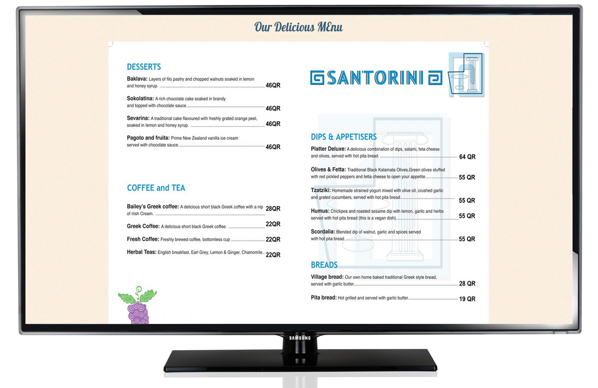 SaanTorini: A Greek Restaurant